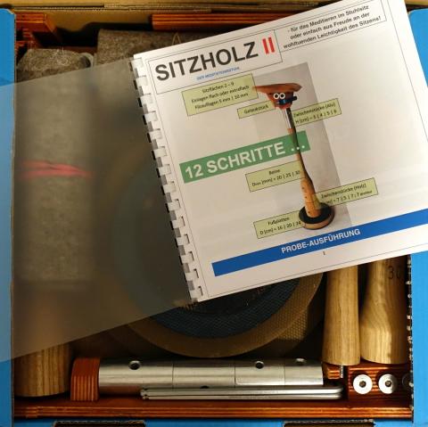 Probeset SITZHOLZ II (Meditationsstuhl)